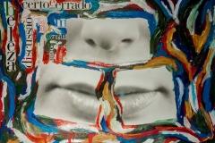 Fotografia sobre pintura e colagem. 2000.